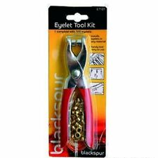 Eyelet Tool Kit Complete with 100 eyelites.Installs eyelites in most materials.