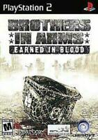 Brothers in Arms Earned in Blood PS2 Game Used