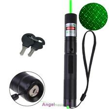 Powerful Green Laser Pointer Pen With Star Cap Black