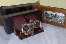 Blair Hawkeye Stereo No.2 Camera with wood printing frame