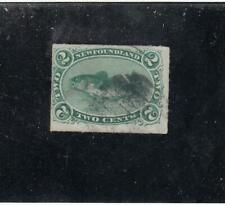 NEWFOUNDLAND  # 38  VF-USED  2cts  CODFISH /ROULETTED /GREEN  CAT VALUE $70