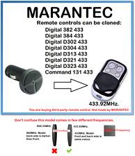 Marantec D323 433 Control Remoto Universal Duplicador 433.92MHz.