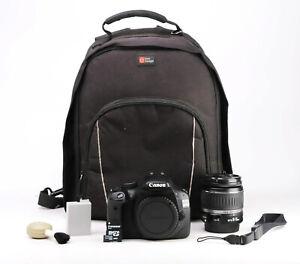 Canon EOS 550D DSLR Camera + Canon 18-55mm II Lens Kit + 1080p HD 10,595 Shots