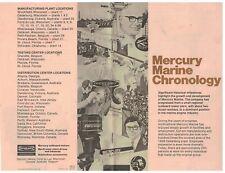 1970s Mercury Outboard Motors Booklet Mercury Marine Chronology