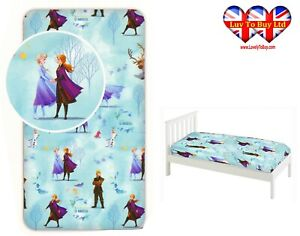 Fitted Sheet Disney Frozen Single Bed %100 Cotton,Official Licensed(200x90x25cm)