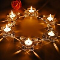 Butterfly Shape Tea Light Glass Candle Holder Wedding Candlestick Party Dining