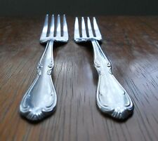 2 SALAD FORKS International Stainless Rogers Cutlery Charmaine Victorian Manor