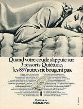 PUBLICITE  1968   SIMMONS  matelas QUIETUDE