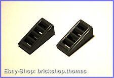Lego 2 x Gitter Schrägstein grau(1x2) - 61409 - Slope Dark Bluish Gray - NEU/NEW