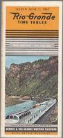 [27774] 1967 DENVER & RIO GRANDE WESTERN RAILROAD PASSENGER TIMETABLE