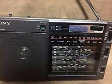 SONY Portable Radio Nikkei ICF-EX5MK2 FM AM Analog Tunning Carry Belt F/S USED
