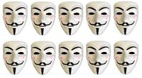 10er Set V wie Vendetta Maske | Guy Fawkes | Halloween Fasching Maske