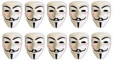 10er Set V wie Vendetta Maske   Guy Fawkes   Halloween Fasching Maske