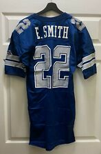 Emmitt Smith 1990's Game Used #22 Cowboys Jersey APEX Sz 44 GREY FLANNEL LOA