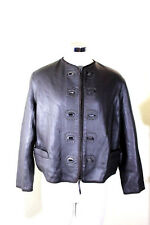 Jean Paul GAULTIER FEMME Brown SheepSkin Leather Rocker Jacket M 6 7 8 Medium