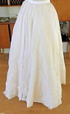 Max Chaoul Wedding Skirt With Flowers Appliqué French Size 38 Worn Once