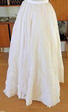 MAX chaoul boda falda con flores Aplique Francés size 38 USADO UNA VEZ