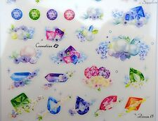 Korean precious stones & pearl stickers! Gems, diamonds, amethyst, topaz peridot