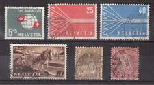 SWITZERLAND LOT OF 6 USED STAMPS !!R