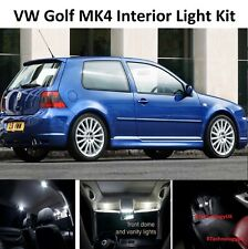 Premium VW Golf MK4 IV INTERIOR LED Coche Bombillas De Xenón Blanco Puro Kit de Luz
