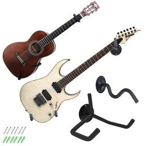 Universal Metal Guitars Horizontal Wall Mount Hanger Stand for Shop Studio Music