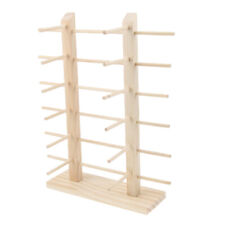 Wooden Sunglasses Eyeglass Rack Display Stand Double Lines for 12 Pairs