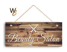 """Beauty Salon Sign, Company Sign, Business Sign, 6""""x14"""" Sign, Rustic STORE Sign"""
