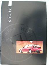 Honda Civic Hatchback brochure 1990/1991 - DX,GL,1.6i-16 models