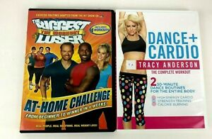 Lot of 2 Exercise DVDs Biggest Loser Tracy Anderson Dance Cardio Free Shipping!!