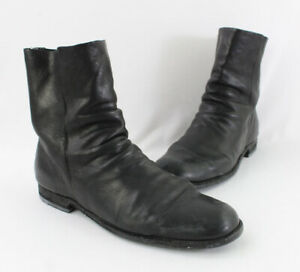 Officine Creative Women's Black Leather Round Toe Ankle Boots Shoes Size 41 11