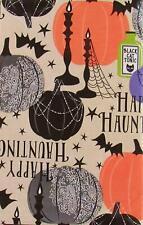 Halloween Vinyl Flannel Backed Tablecloth 60 Round Candelabra Poison Beige