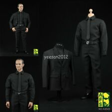 AFS A004 1/6 Scale Black Suit Shirt Pants Shoes Male Agent Clothing Full Sets