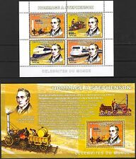 Congo 2006 Old Trains Locomotives George Stephenson 2 S/S MNH**