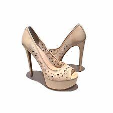 Women's Athena Designer Platform Pink Bling High Heels US 9.5