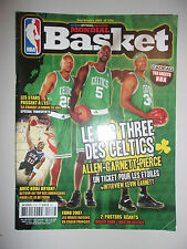 MONDIAL BASKET N°173 S 2007 ALLEN GARNETT PIERCE LE BIG THREE DES CELTICS