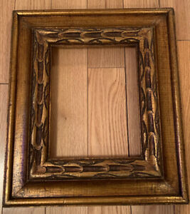 Wood Painting Frame Vintage Gold Color Decorative 14x16 and 9.8x7.8 Inches