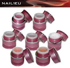 Muster-Set Beautyline 7x15ml: Fiberglas-gel Makeup- Haft- French- Versieglergele