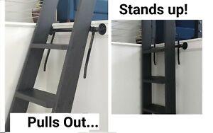 Library Loft Ladder Hardware Kit - LADDER STANDS UP!  Powder Coating! Any width!