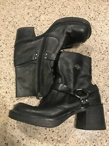 HARLEY DAVIDSON WOMEN LEATHER BOOTS SIZE 9.5