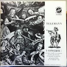 RICHARD SCHULZE telemann 3 concerti LP Mint- STDL 500.590 RVG Stereo Van Gelder
