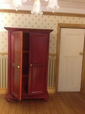 Dolls House  Clothes Wardrobe  mahogany 1:12 for Dollhouse