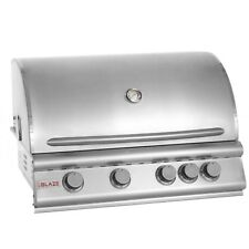 Blaze 32 Inch 4-Burner Built-In Natural Gas Grill With Rear Infrared Burner NG