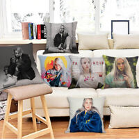Home Decor Billie Eilish Pillowcase Car Bedroom Sofa Pillow Cover Cushion Cover