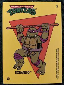 1989 Topps Teenage Mutant Ninja Turtles Sticker Card #3 Donatello BRAND NEW