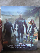 Captain America Winter Soldier Blufans Lenticular Slip 3D Blu-Ray Steelbook Mint