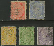 Queensland   1879-81   Scott # 57-61   USED Set