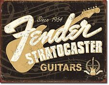 Fender Stratocaster 60 Years metal wall sign  425mm x 280mm (de)