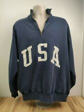 Vintage Ralph Lauren 1/3 Zip Pullover Sweater XL USA Spelled Out