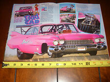 1959 CADILLAC Coupe De Ville RACE CAR BAD CAD - ORIGINAL 1990 ARTICLE