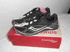 Saucony Women's Kilkenny XC4 10125 Cross-Country Shoe Size 5 Black/White/Pink